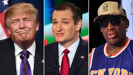 Donald Trump Ted Cruz Dennis Rodman Composite