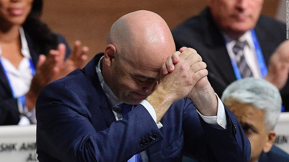 Infantino, who polled 115 votes in the second round, finished ahead of main rival Sheikh Salman bin Ebrahim Al Khalifa, who received 88. They both finished ahead of Jordan's Prince Ali bin Al-Hussein and Frenchmana Jerome Champagne.