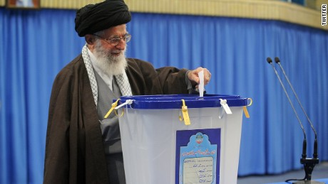 Iran's Supreme Leader Ayatollah Ali Khamenei has just voted as polls open for the Iranian people to elect a new Parliament and an Assembly of Experts. As Khamenei is 76, the new assembly voted into power is likely to play a significant role in choosing his successor.