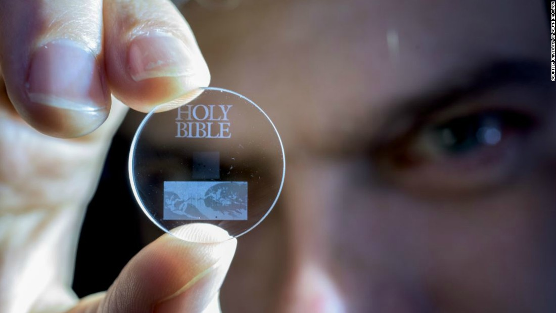 The crystal Bible to last a billion years