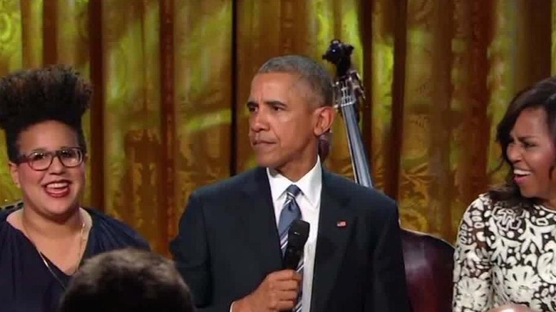 President Obama sings Ray Charles during tribute