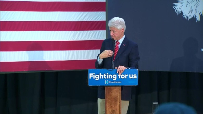 Bill Clinton gets into heated exchange with veteran