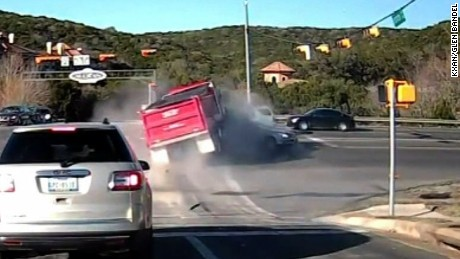 gravel truck crash caught on dashcam pkg_00001525