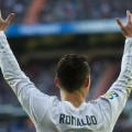 Ronaldo arms in air