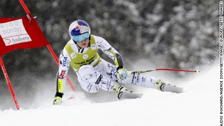 SOLDEU, ANDORRA - FEBRUARY 28: (FRANCE OUT) Lindsey Vonn of the USA competes during the Audi FIS Alpine Ski World Cup Women's Super Combined on February 28, 2016 in Soldeu, Andorra. (Photo by Alexis Boichard/Agence Zoom/Getty Images)