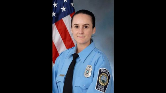 Ashley Guindon was sworn in as an officer on Friday.