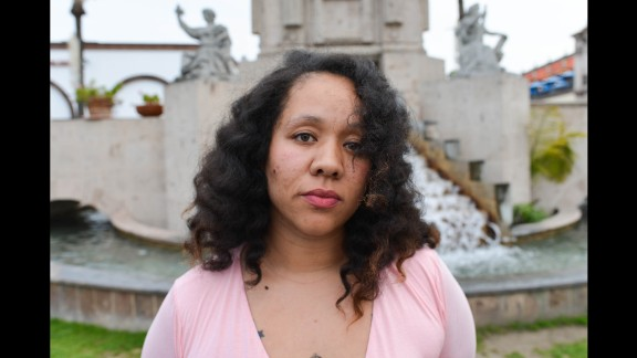 Maria says she identifies as Afro-Mexicana. Her portrait is accompanied by a photo of her parents.