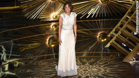 Actress Stacey Dash speaks onstage during the 88th Annual Academy Awards at the Dolby Theater on February 28, in Hollywood, California.