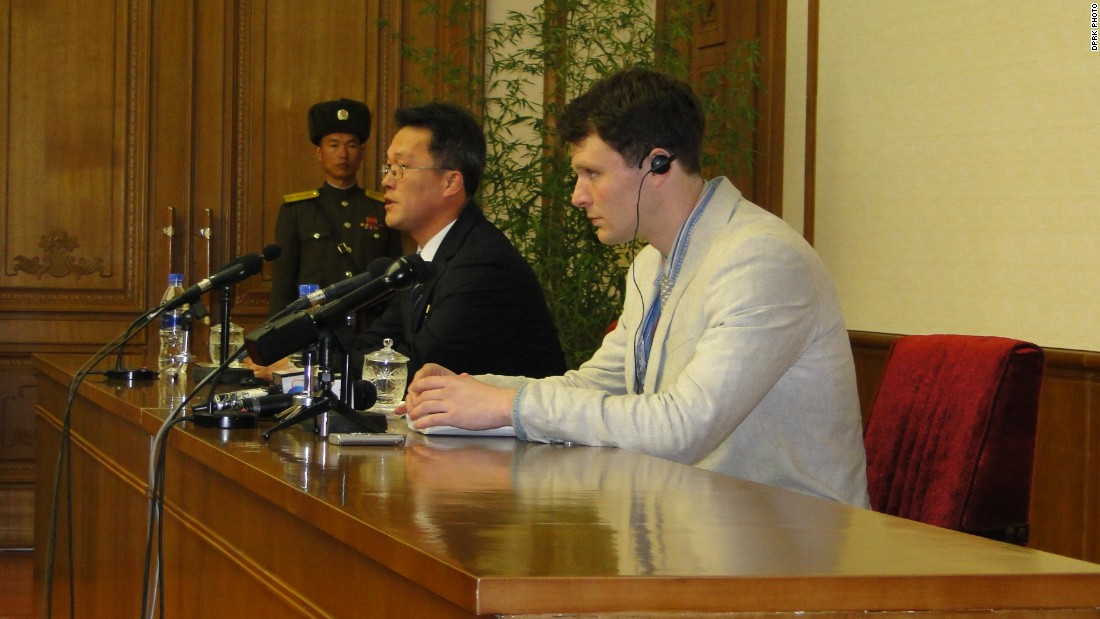 Some DPRK observers believe that the timing of Warmbier's press conference, as the U.S. and international community discuss implementing new sanctions, could be a deliberate move by the regime.