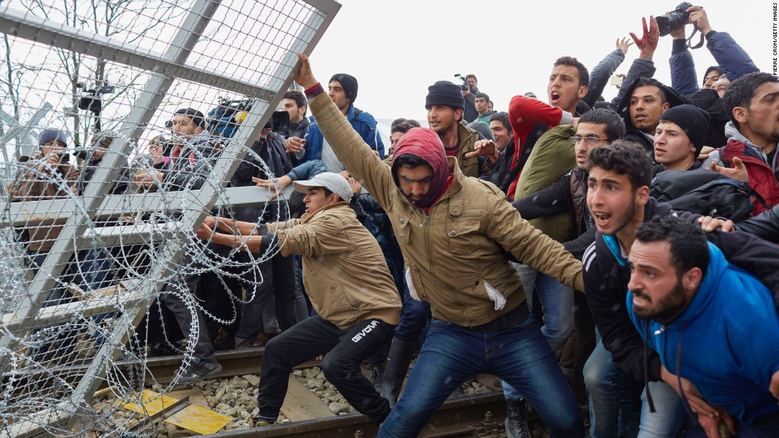 Image result for migrants violence in eu