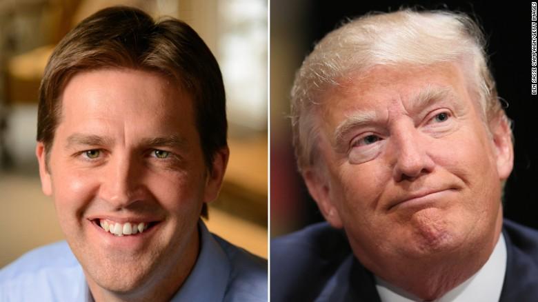 Republican Sen. Ben Sasse of Nebraska, at left, criticized comments made President Donald Trump, at right.