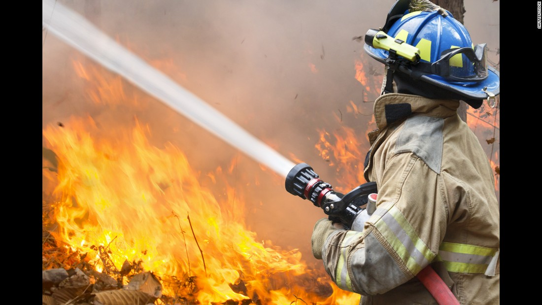 In addition to the majority of firefighters in the study being overweight, 77% of firefighters and police had high cholesterol and 35% had high blood pressure.