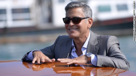 32c0871fae7a One signature of George Clooney  39 s look is his salt-and-