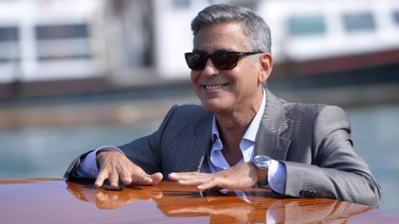 One signature of George Clooney's look is his salt-and-pepper hair. In a recent interview with BBC Radio, Clooney said he will never dye his hair to fight off the appearance of aging. Click through our gallery to see more famously gray-haired celebrities.