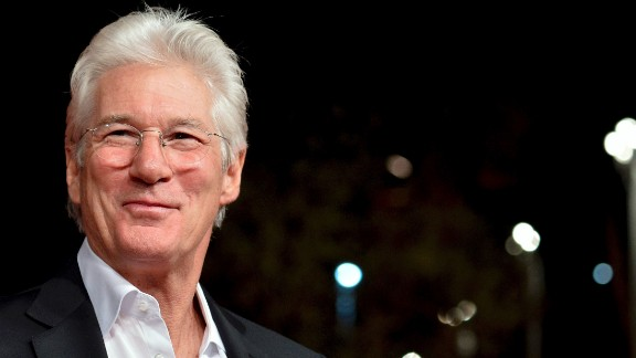 Actor Richard Gere, 66, has never been a fan of dying his hair, which started to go gray when the actor was married to model Cindy Crawford during the early