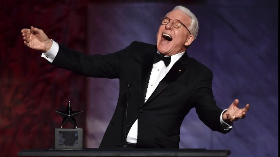 Comedian Steve Martin, 70, was known for his graying hair during the early days of his TV and film career and it has been that way ever since.