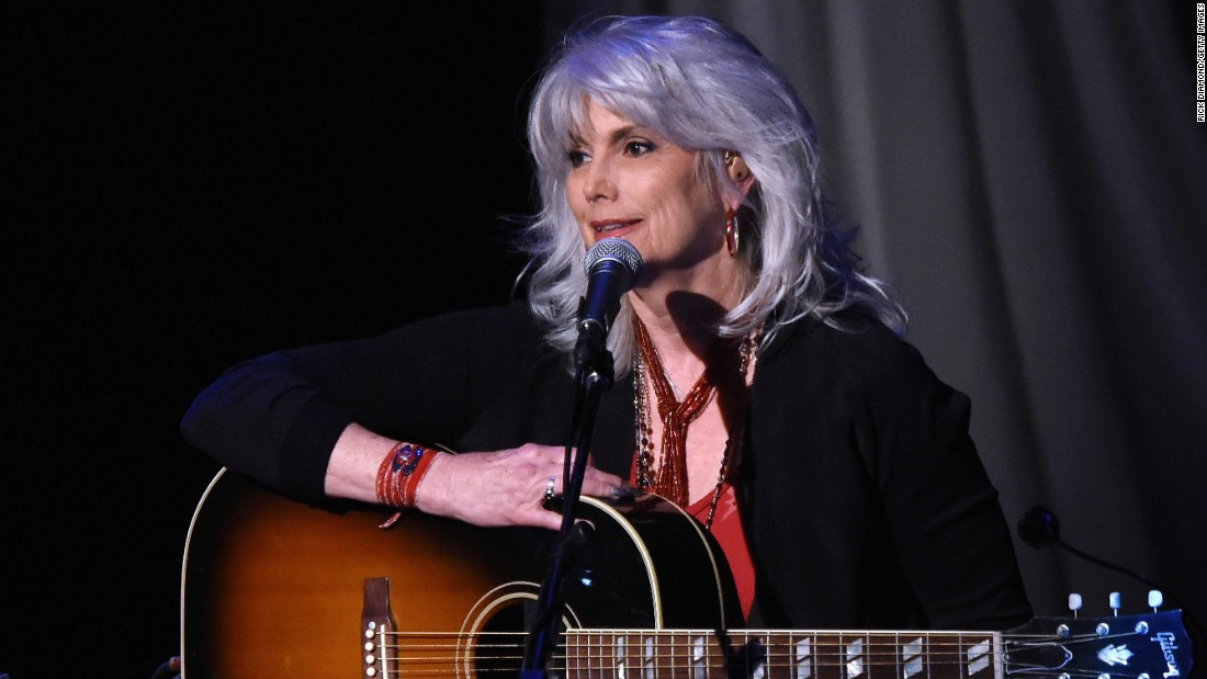 "Singer Emmylou Harris, 68, has been asked about her naturally gray hair many times over the years. During an <a href=""http://www.nytimes.com/2013/03/22/booming/a-full-circle-for-emmylou-harris.html?pagewanted=all&_r=0"" target=""_blank"">interview with The New York Times</a> in 2013, she offered this advice: ""Women should do whatever makes them feel good, but I do wish that we would accept our aging selves."""
