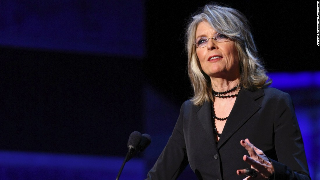 Actress Diane Keaton, 70, started showing off her gray hair in 2013 and has embraced it ever since.