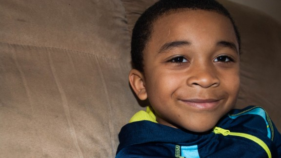 Wakes says she fears the effects of lead in the water on her son, Jalen, 7.