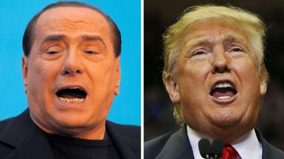 Former Italian Prime Minister Silvio Berlusconi and GOP frontrunner Donald Trump