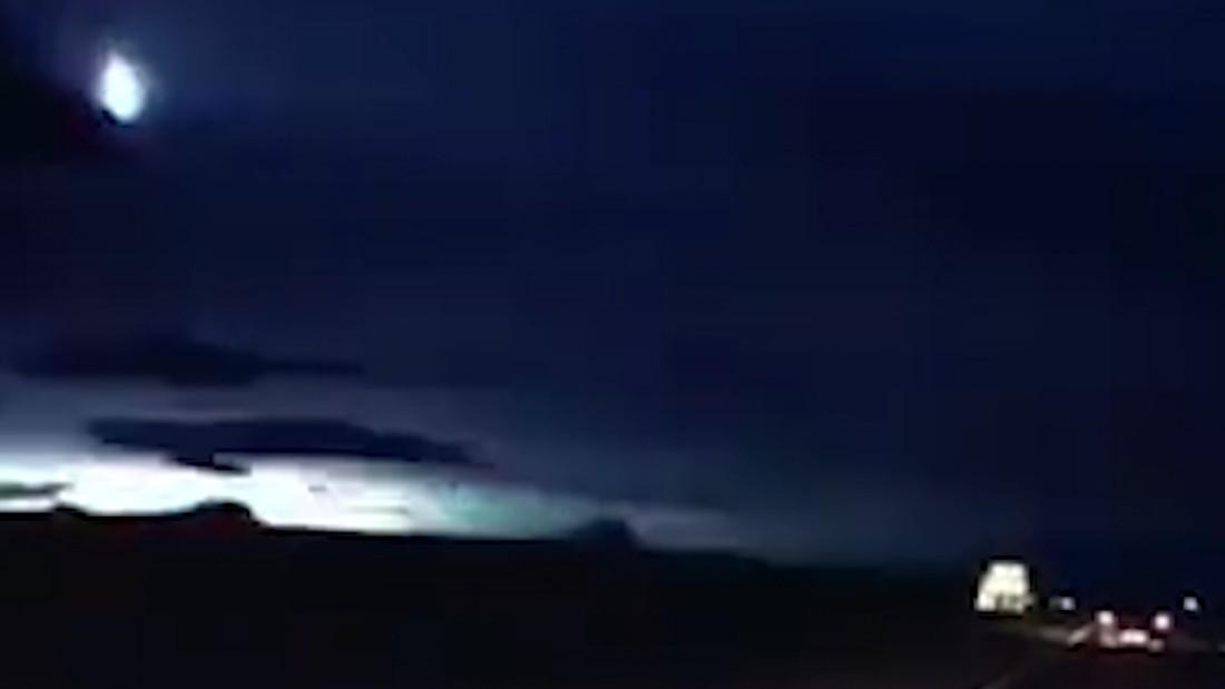 Mysterious fireball lights up night sky