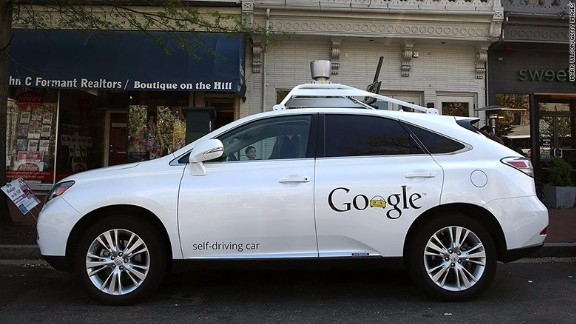 One of Google's self-driving cars had an accident recently.