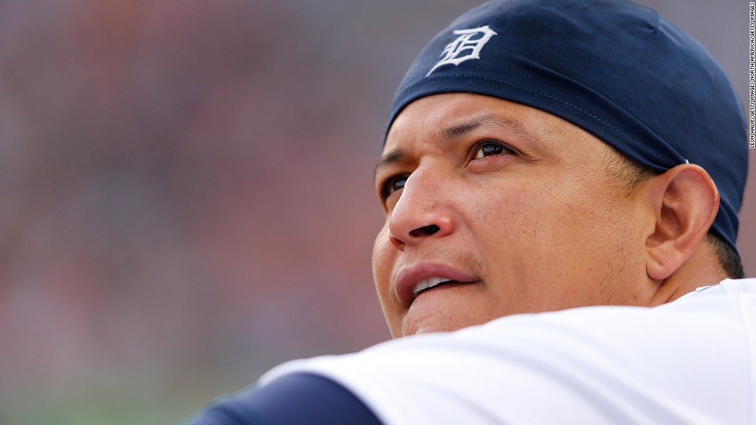 "The Detroit Tigers' catcher will forever be known for his 2012 feat of posting the first batting triple crown in 45 years -- leading the league with 44 HR, 139 RBI and a .330 batting average. ""Miggy"" -- who won the 2003 World Series as a rookie with the Florida Marlins, when he made all of $165,000 -- signed an eight-year, $248 million deal in 2016."