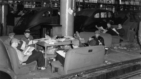 Flint is the home of the famous 44-day sit-down strike against General Motors, which birthed the UAW in 1937.