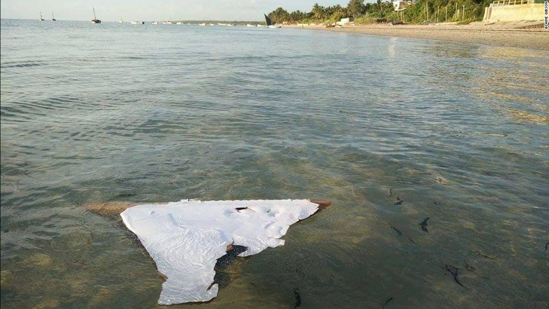 An examination of stenciling and other identifiable features were used to link the debris to MH370.