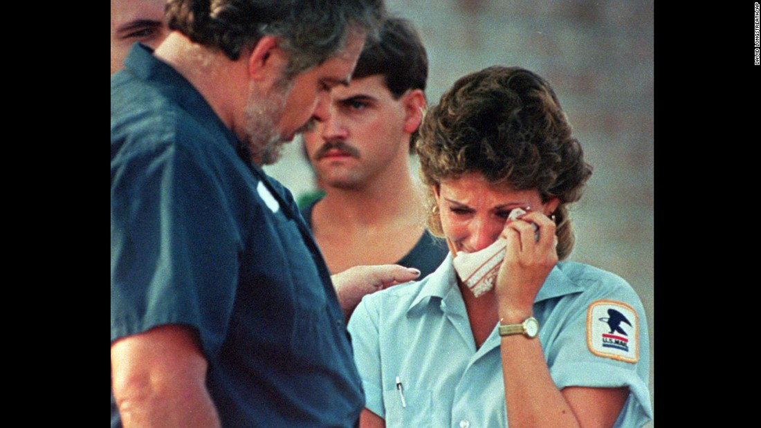 "<strong>'Going postal':</strong> On August 20, 1986, an Oklahoma mailman opened fire on his co-workers, killing 14 before turning the gun on himself. The part-time postal worker was facing the possibility he might be fired from his Edmond, Oklahoma, post office. The incident came to be seen as one of the first -- and the deadliest -- in a series of post-office shooting rampages. It lead to the expression ""going postal"" to describe someone arbitrarily opening fire on a group of people."