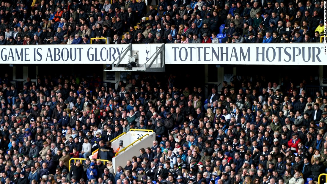 White Hart Lane, home to Tottenham, is sure to be rocking for the early kickoff time in the UK.