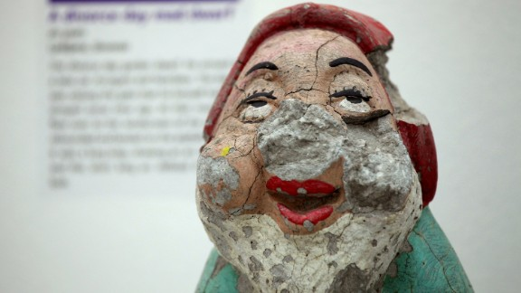 Some of the items are quite unusual, like this broken gnome figure.