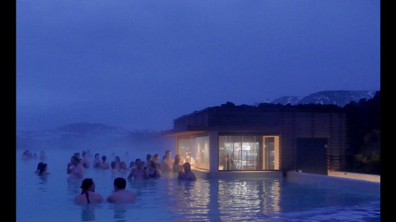 ICELAND: Located in a lava field, the Blue Lagoon geothermal spa is one of the most visited attractions in Iceland. Photo by CNN's Christian Streib @christianstreibcnn.