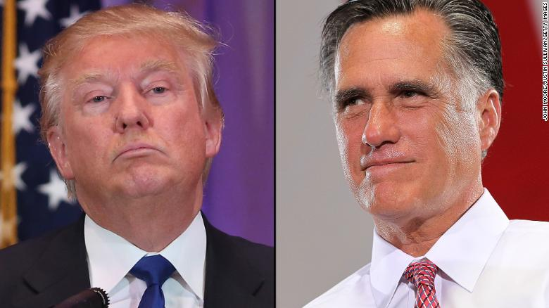 Trump and Romney's heated war of words