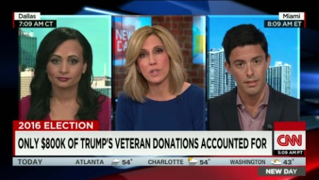 Trump spokeswoman: $6M vet donations being distributed