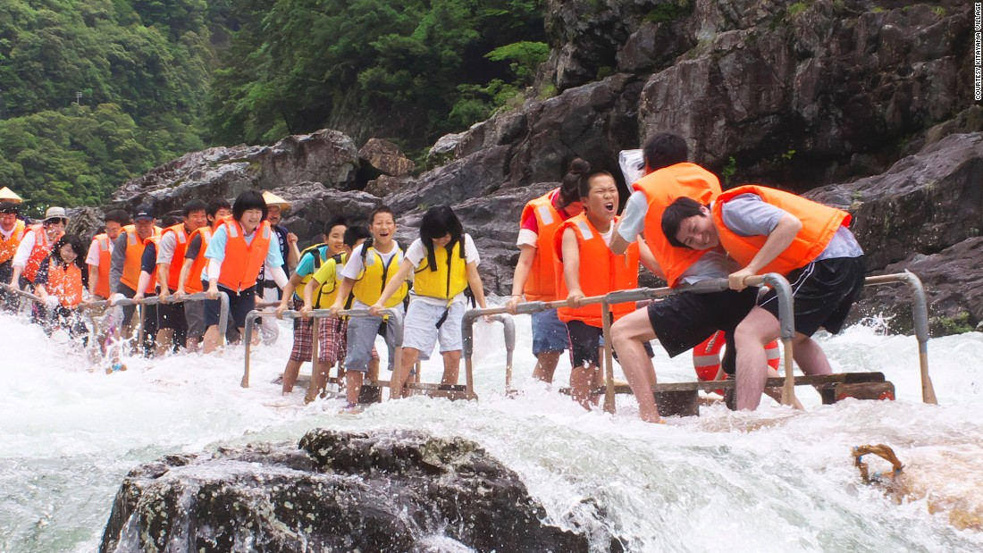 wakayama rafting it s on logs and standing up cnn travel