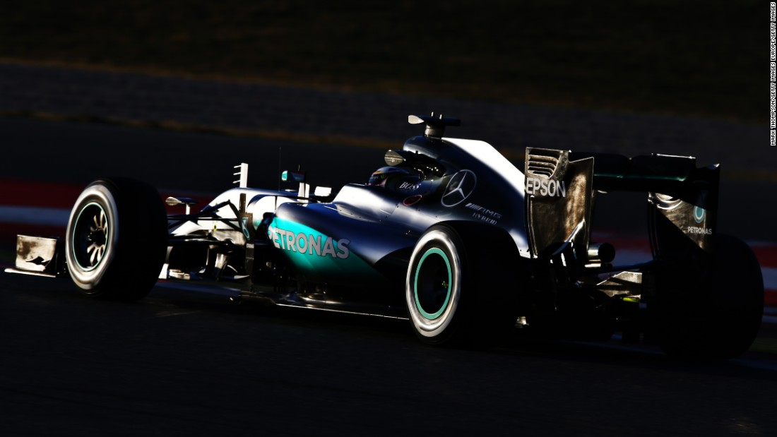 Hamilton's Mercedes cut out on the main straight on day 4 of testing!