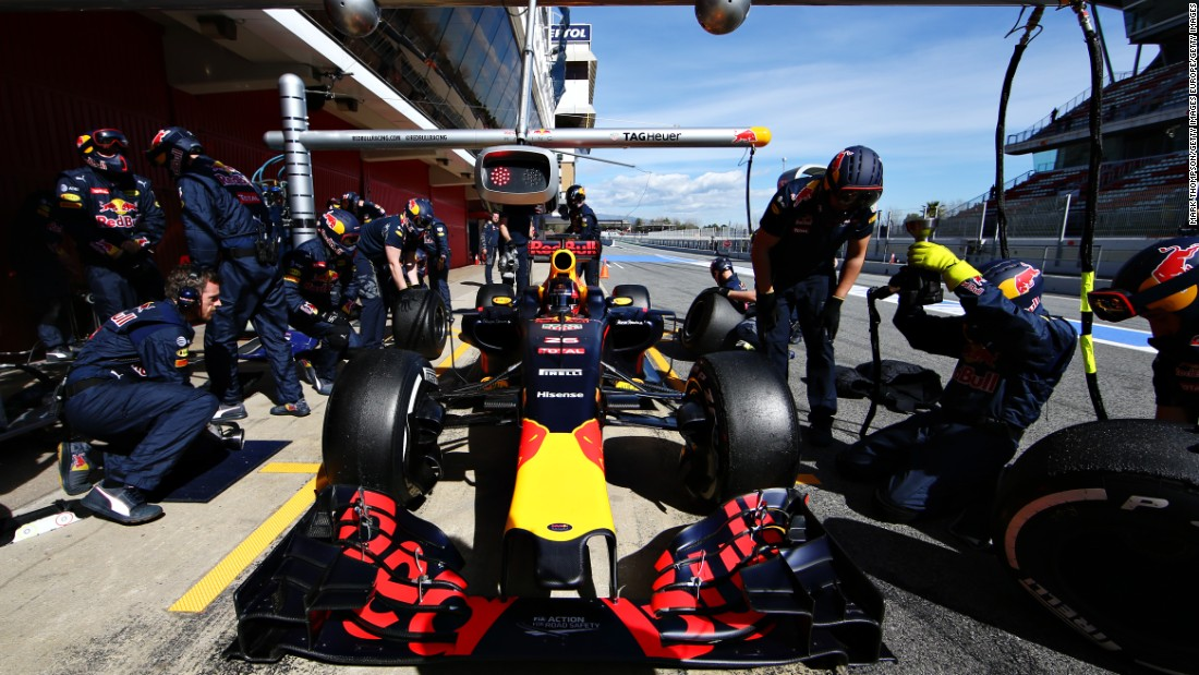 The assembled Red Bull Racing team demonstrate it's about so much more than just the driver.