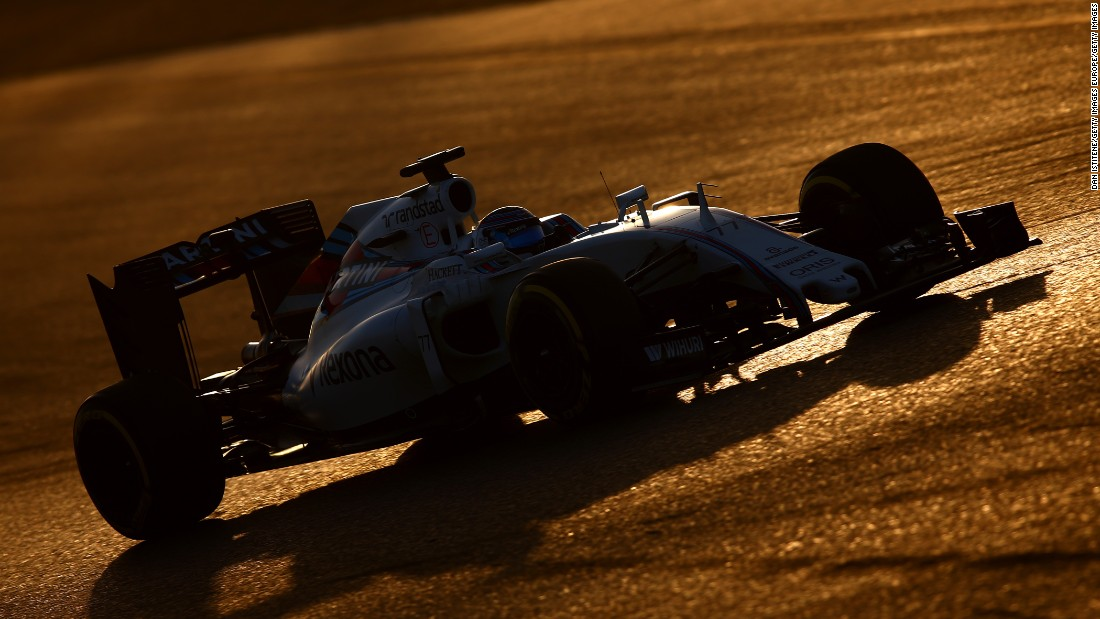 Valtteri Bottas of Williams recorded the second fastest time of 1:23.229 on day one. It was the best time on the new ultra-soft tires.