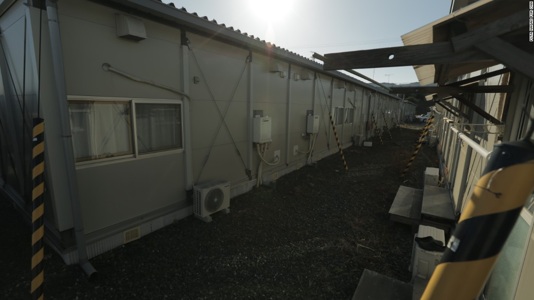 Many of those still living in the temporary housing units are senior citizens, unable or not willing to move elsewhere.