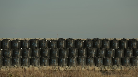 One of hundreds of temporary storage sites for contaminated material.