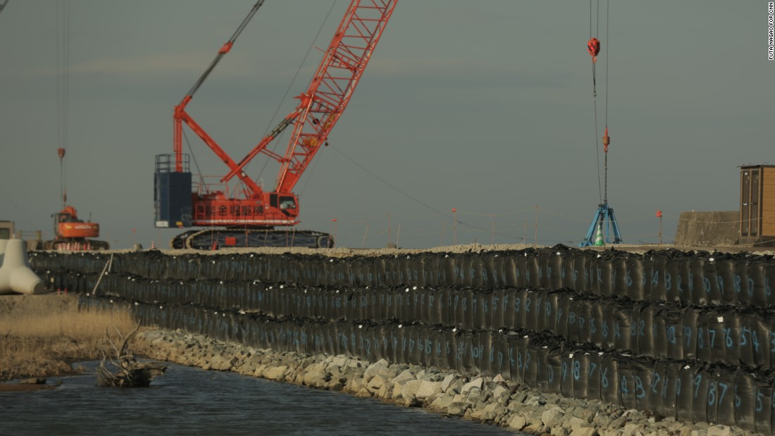 A giant, 780-meter sea wall under construction near the Fukushima Daiichi nuclear plant is designed to prevent contaminated water on the site from seeping into the ocean.