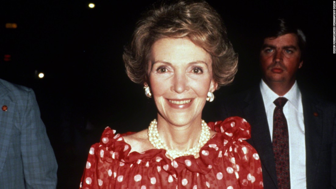 "Former first lady <a href=""http://www.cnn.com/2016/03/06/politics/nancy-reagan-dies-obit/index.html"" target=""_blank"">Nancy Reagan</a>, who joined her husband on a storybook journey from Hollywood to the White House, died of heart failure on March 6. She was known as a fierce protector of her husband, President Ronald Reagan, as well as a spokeswoman of the ""just say no"" anti-drug campaign. She was 94."
