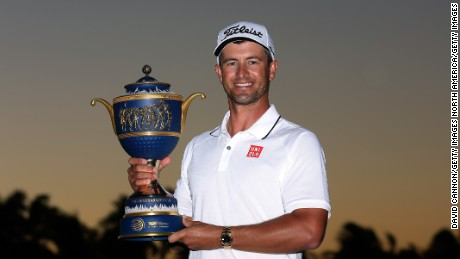 Adam Scott clinched his second PGA Tour title in two weeks with victory in the WGC Cadillac Championship