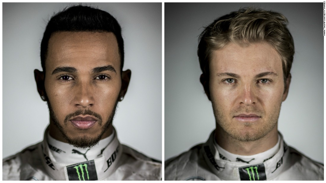 Will it be third time lucky for Nico Rosberg (right) in 2016? Or will his Mercedes teammate Lewis Hamilton (left) win a third successive Formula One championship?