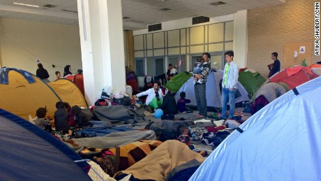 Refugees camp in Athens' abandoned Hellinikon International Airport