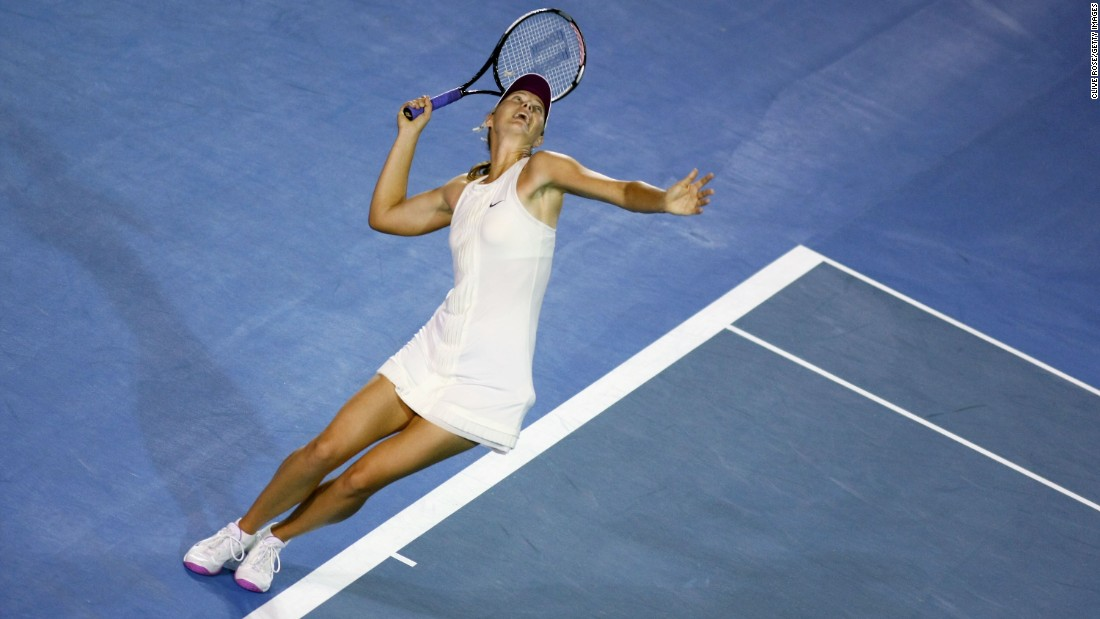Sharapova won her third major title at the 2008 Australian Open.