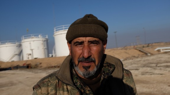 Mohaamed, a Kurdish fighter overseeing a small refinery near al Hawl, says it
