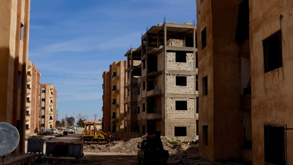 The scene of a fierce battle south of Hasakah, which is close to al Hawl. Eventually ISIS fighters were pushed out by a combination of coalition airstrikes and Kurdish militia.