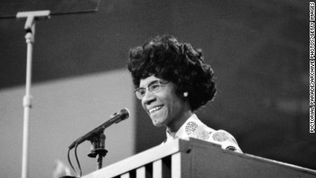 Shirley Chisholm speaks at the 1972 Democratic National Convention in Miami Beach, Florida.